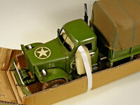 PRL) TRUCK CAMION USAF WWII ARMY MODELLO LATTA TIN TOY BIG SIZE GUERRA MONDIALE