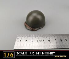 """Dragon WWII US Army M1 Metal Helmet & Liner 1/6 Fit for 12"""" action figure"""