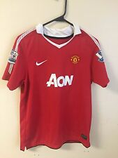 MANCHESTER UNITED #10 ROONEY 2010-2011 HOME ORIGINAL NIKE JERSEY SHIRT Youth XL