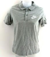 NIKE Boys Polo Shirt 12-13 Years L Large Grey Cotton