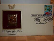 2006 SAN DIEGO COMIC CON 22K PLASTIC MAN 4 STAMP 1st DAY ISSUE ART JACK COLE Comic Art