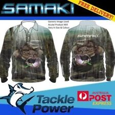 Samaki Long Sleeve Fishing Shirt Flathead Kids Size 4 UPF 50