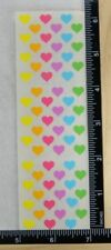 Sandylion MICRO HEARTS MULTI COLOR Stickers NEW