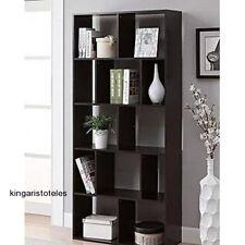 Espresso 12 Shelf Bookcase Modern Home Decor Office Furniture Storage Bookshelf