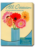 All Occasion Assortment Foiled & Embossed Assorted Box of 12 All Occasion Cards