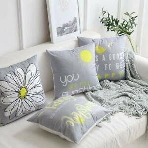 Set of 4 Summer Decoretive Cute Throw Pillow Covers 18 x 18 Inch