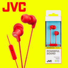 JVC HA-FR15-R Red Gumy Stereo Bass Headphone Earphones for iPod iPhone Android