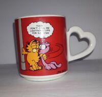 Garfield Vtg Coffee Mug Enesco Vintage 1980 Lightning Lips Arlene Heart Handle