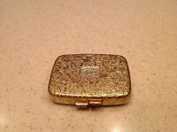 Ladies Vintage Compact Pill Makeup Extras Case With Mirror HInged Mirror Floral