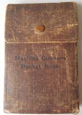 WW1 Army 1914 Machine Gunners Pocket Book