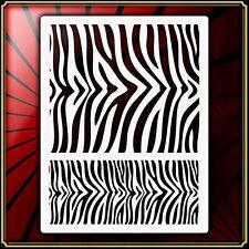 Tiger / Zebra Print Airbrush Stencil Template Airsick