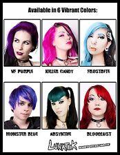 Lunatik Hair Dye demi-permanent vegan, in blue, purple, pastel, pink, green, red