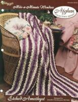 Etched Amethyst Mile a Minute Afghan Pattern The Needlecraft Shop 1996 TNS