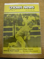 15/07/1978 Cricket News: Vol.02 No.11 - A Weekly Review Of The Game, Scweppes &