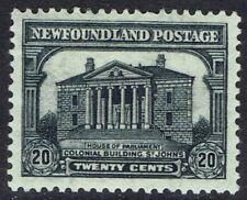 NEWFOUNDLAND 1931 PARLIAMENT 20C RE-ENGRAVED ISSUE
