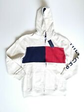 New Tommy Hilfiger Youth Boy/'s Full-Zip Fleece Logo Hoodie with Pockets 18//20 XL