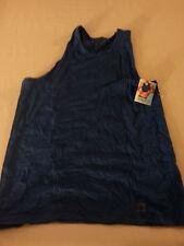 VTG PERRY ELLIS AQUA-F BY HYOSUNG Sleeveless Mens Shirt LARGE MUSCLE FLEX POSE