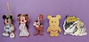 Disney Trading Pins Mixed Lot - Star Wars Jedi Mickey Minnie C-3PO Daisy LOT#B53