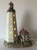 GEO Z LEFTON 1991 SANDY HOOK LIGHT HOUSE ACCENT TABLE LAMP #1764