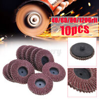 "10PCS 2"" 50mm Flap Discs Wheels Sanding 40/60/80/120 Grit Grinding Angle"