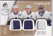 2007-08 SP Game Used Authentic Fabrics Triple Patch Sundin/McCabe/Toskala 5/10