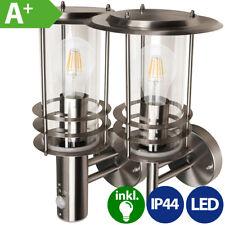 Edelstahl Außenlampe Wandleuchte Gartenleuchte 230V mit LED E27 2W 4W 6W 10W