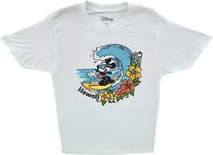 Mens Disney Mickey Mouse Surfing Hawaii Vintage Cartoon T-Shirt Retro Disneyland