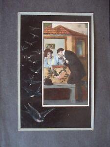 Unused Edwardian Romantic Colour Post Card