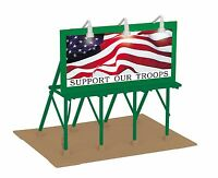 MTH 30-90527, O Scale, Lighted Billboard - Support Our Troops