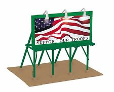 MTH 30-90527, O échelle, éclairé Panneau d'affichage - Appui nos troupes