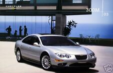 2003 Chrysler 300M sedan new vehicle brochure
