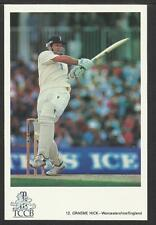 GRAEME HICK (WORCESTERSHIRE & ENGLAND) TCCB OFFICIAL CRICKET POSTCARD No. 12
