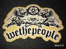 1 AUTHENTIC WETHEPEOPLE BMX BIKE FRAME STICKER / DECAL WTP #6 AUFKLEBER