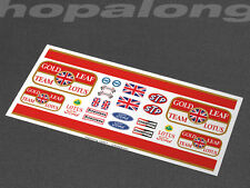 Scalextric/Slot Car 1/32 'Gold Leaf Lotus' Waterslide Decals. ns027