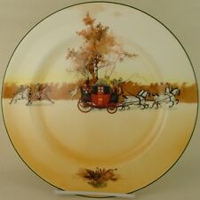 Royal Doulton Coaching Days Pursued E3804 Dinner Plate 1939