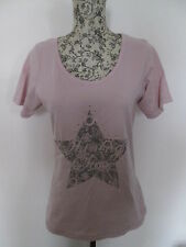 F&F - BABY PINK VINTAGE STAR SHORT SLEEVED T Shirt Top Size 8/10