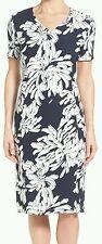 $625 BOSS HUGO BOSS 'DEALA' FLORAL PRINT  V-NECK SHEATH DRESS SZ US6 UK10