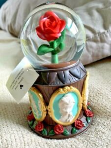 Disney Parks Beauty & the Beast Musical Rose Snow Globe Tale as Old as Time BIN