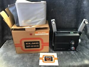 Vintage Elmo Super 8 VP-D100 Film Projector In Box With Acc & Instructions