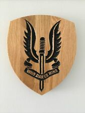 More details for regimental plaques sas who dares wins carved oak other designs made to order new