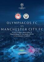 * 2020/21 - OLYMPIACOS v MAN CITY (CHAMPIONS LEAGUE - 25th November 2020) *