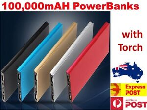 100000mAh Portable Power Bank USB Battery Charger Powerbank For iPhone Mobile