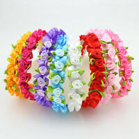 Rose Headband Fashion Kids Flower Hair Accessories for Girls 8 Colors LJ