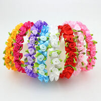1 Pcs Rose Headband Fashion Kids Flower Hair Accessories for Girls 8 Color SEAU