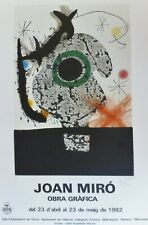 Joan Miro Obra Grafica Offset Lithograph signed Poster 1982