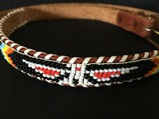 New listing Leather Belt Thunderbird Native American Souvenir Style Colorful Beaded Small
