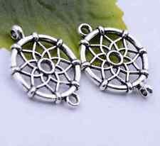 10pcs Tibetan silver flower jewelry making charm linker 26x20mm #5376