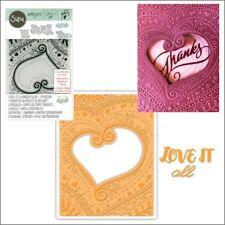 Sizzix embossing folders Bohemian Heart cut and Emboss folder - Weddings Love