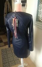 Robe simili cuir MSGM Modèle fourreau taille 40 Bleu Foncé neuve 400€