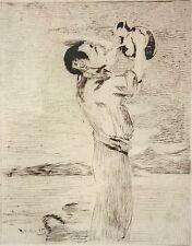 I1-001 - WATER DRINKER. AQUATINT ON PAPER. EDOUARD MANET. 19TH CENTURY.
